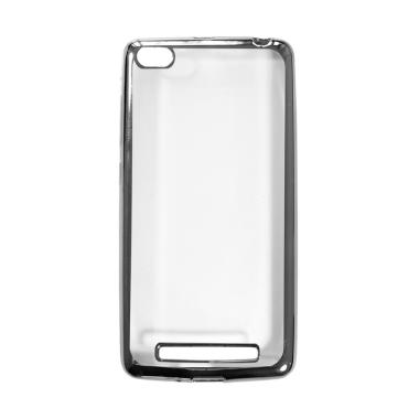 OEM Shining Chrome Softcase Casing for Oppo Neo 7 A33W - Black