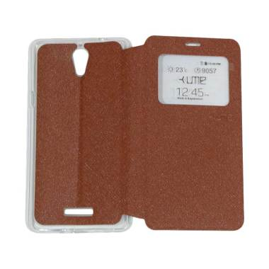 UME Flipshell / Flip Cover Casing f ...  Handphone / View - Brown