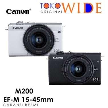 harga TOKO WIDE - CANON EOS M200 Kit 15-45mm Mirrorless Camera GARANSI RESMI WHITE Blibli.com