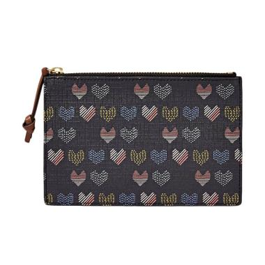 Fossil SL 7410745 RFID Small Pouch Dompet Wanita - Hearts