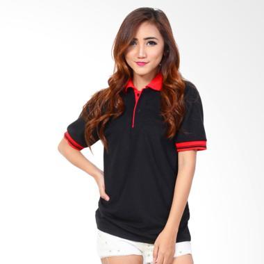 Jfashion Basic Simpel Elegan Kaos Polo Wanita - Hitam