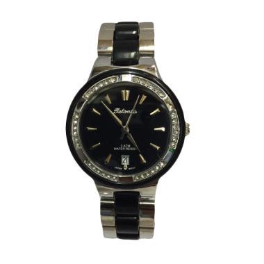 Tetonis T961 Jam Tangan Fashion Wanita - Silver Black