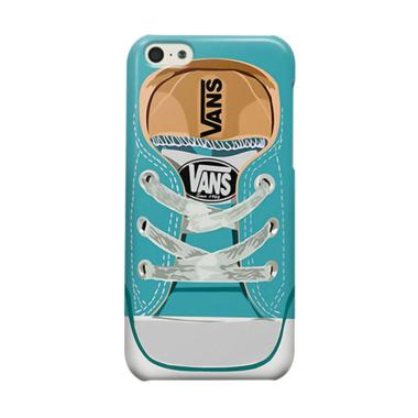 Indocustomcase Blue Van Shoes Cover Casing for Apple iPhone 5C