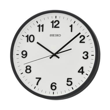 Seiko QXA640K Quiet Sweep Wall Clock Jam Dinding - Black [30.5 cm]