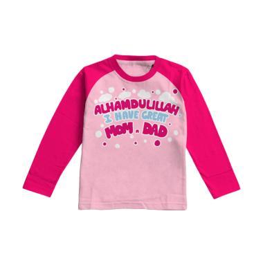 Aitana AiK-16-014 Momdad Kids Kaos Muslim Anak Perempuan - Pink