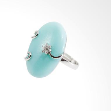 Gina Adornments Ring Cincin Wanita - Silver