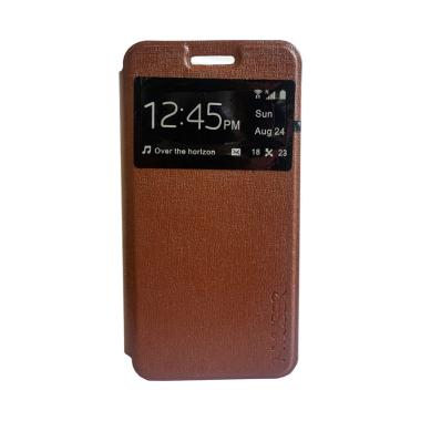 MyUser Flip Cover Casing for Android One X - Coklat