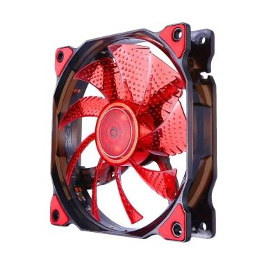 Segotep Polar Wind 12cm With 15 Teeth Red LED Lamp - Merah