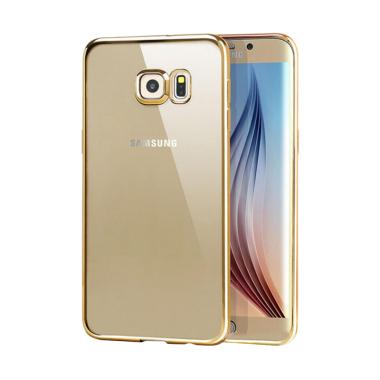 OEM Case Shining Chrome Casing for Samsung Galaxy S6 - Gold