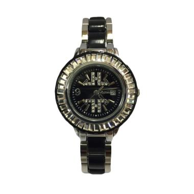 Tetonis T963 Jam Tangan Fashion Wanita - Silver Black