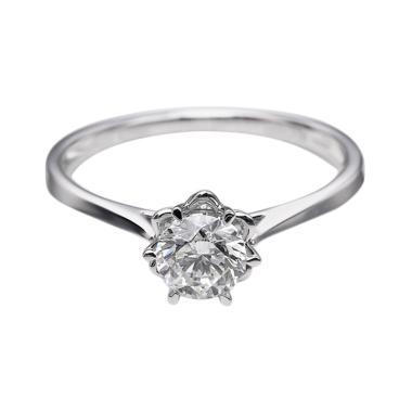Tiaria DHTXDFJ015 Cincin Emas Putih Berlian - White Gold [18K]