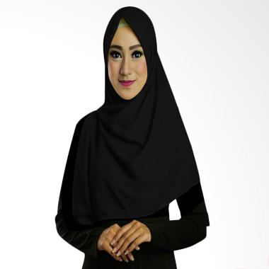 Ruman Hijab TS Square Kerudung Segi Empat - Hitam