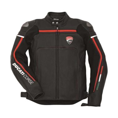 Ducati Corse 14 Leather Man Perforated Jaket Motor - Black