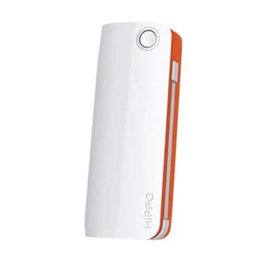 Hippo Snow White 2 Powerbank - Putih List Orange [6000 mAh]