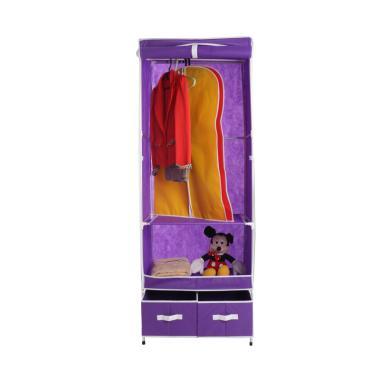 Anya-Living Rp 002-Ch+2d Wadrobe Lemari Pakaian - Purple