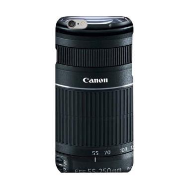Indocustomcase Lensa Canon DSLR Cov ... sing for iPhone 6 - Black