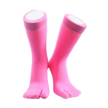 Soka Jempol Panjang Kaos Kaki Wanita - Pink Tua