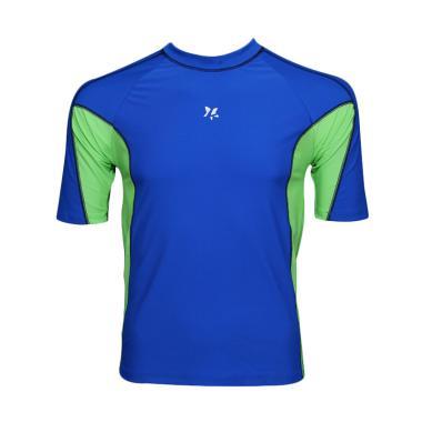 Lasona BM-A3156-L4 Baju Atasan Renang Pria - Biru Yellow Green