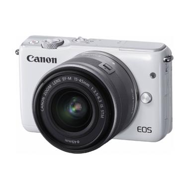 Canon EOS M10 Kit 15-45mm Kamera Mirrorless - Putih [Pokemon]