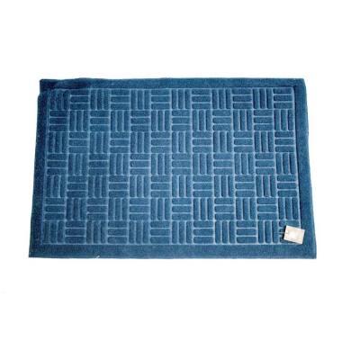 Dixon Motif Welcome Tikar Keset Outdoor - Biru [40x60 cm]