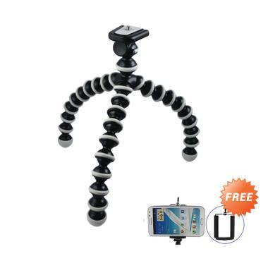Gstation Flexibel Tripod Gorilla Pod - Hitam + Free Holder U
