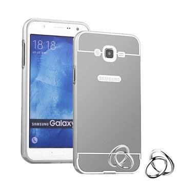 Jagostu Bumper Mirror Casing for Samsung Galaxy J7 2015 - Silver