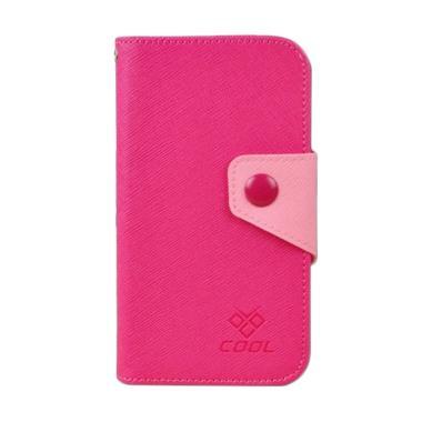 OEM Rainbow Flip Cover Casing for Blackberry Z10 - Merah Muda
