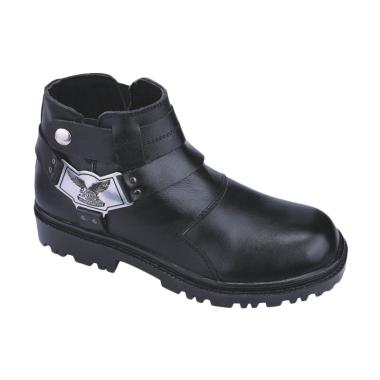 Syaqinah 81 Safety Kulit Boots Sepatu Pria - Hitam
