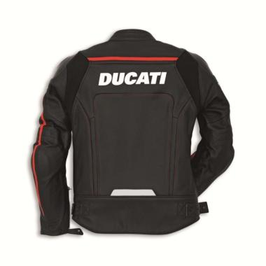 Ducati Corse C2 Leather Man Perforated Jaket Motor - Black