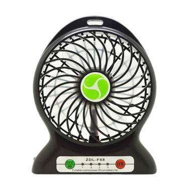 Mini Fan Portable ZDL F6B Powerbank Recharger Fan - Hitam
