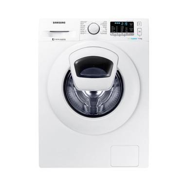 Samsung WW75K5210YW Front Loading Washer Mesin Cuci - White [7.5 kg]