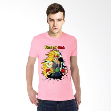 T-Shirt Glory 3D Bardock Dragon Ball Kaos Pria - Pink