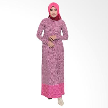 Zoya Fashion Inner Ummi Stripe Dress Muslim - Fanta