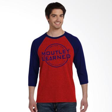 Fantasia 3/4 Lengan Panjang Moutley T-Shirt Pria - Merah