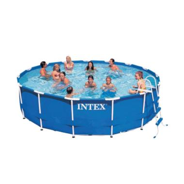Intex Metal Frame Pool Set Kolam Renang Anak 15 Ft X 42 Inch