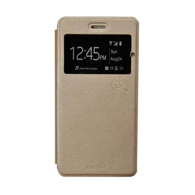 harga SMILE Flip Cover Casing for Samsung Galaxy Note 7 - Gold Blibli.com