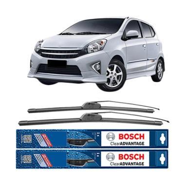 harga Bosch New Clear Advantage Frameless Wiper for Toyota Agya [20 dan 14 Inch] Blibli.com