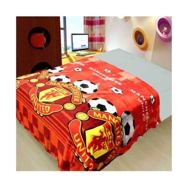 Michiki MU Soccer Limited Edition Selimut - Merah [150 x 200 cm]