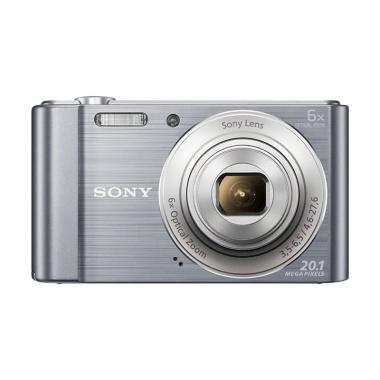 BORNEO DIGITAL- SONY DSC W810 Kamera Pocket - Silver [20.1 MP/ 6x Optical Zoom] Silver