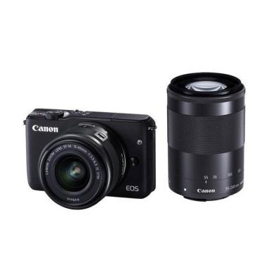 Canon EOS M3 Kit EF-M15-45mm with 55-200mm Kamera Mirrorless - Black