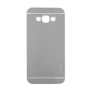 Motomo Metal Hardcase Casing for Samsung Galaxy E7 - Silver