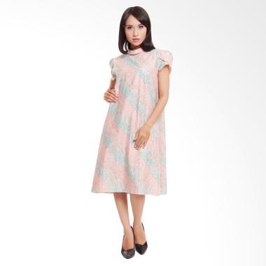 Coeval Megan Dress Batik Wanita - Peach Brown