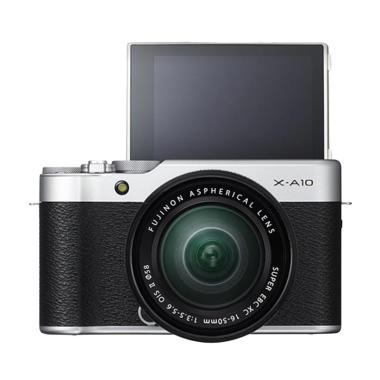 Fujifilm X-A10 Kit 16-50mm Kamera Mirrorless - Silver [16 MP]
