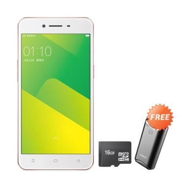 OPPO A37 Smartphone - Rosegold [16GB/ 2GB] + Free Powerbank + MMC 16GB