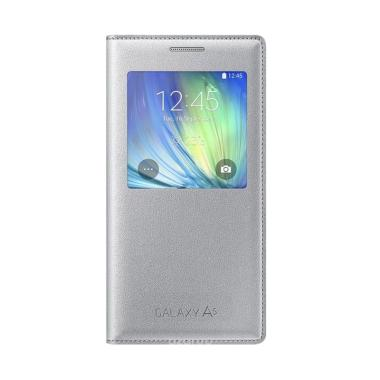 Samsung S View Cover Casing for Galaxy A5 A500 2015 - Silver