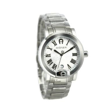 Aigner A103109 Treviglio Jam Tangan Pria - Silver Plat Putih