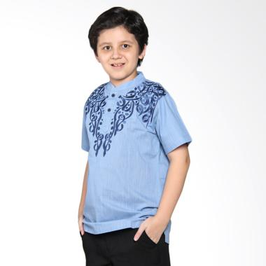 Versail Kids Juenes Pm 7025 Biru Siluet Baju Koko Anak - Blue