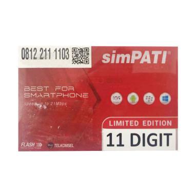 Telkomsel Simpati Nomor Cantik 0812 211 1103 Kartu Perdana