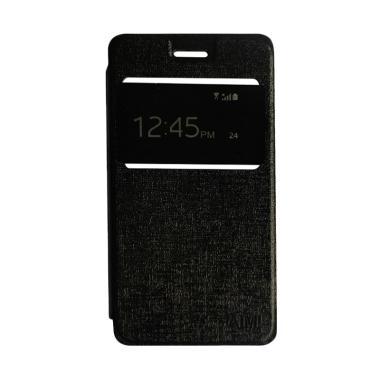 AIMI Flipshell Flip Cover Casing for Oppo Joy 3 or A11W - Black