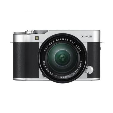 Fujifilm X-A3 Kit 16-50mm Kamera Mirrorless - Silver [24.2 MP]